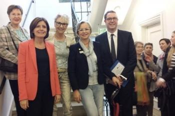 Gruppenfoto mit Malu Dreyer und Alexander Schweitzer